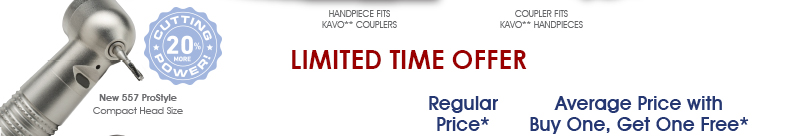 Limited Time Offer - Introducing NEW ProStyle Highspeed Handpieces